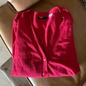 Cranberry red color midi sweater
